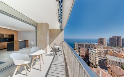 Appartement 3 pièces avec vue sur la mer et la Principauté