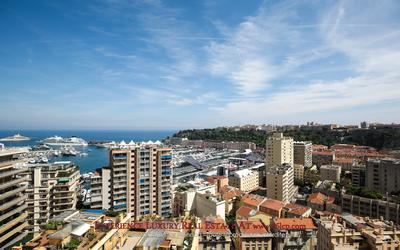 Overlooking the port of Monaco