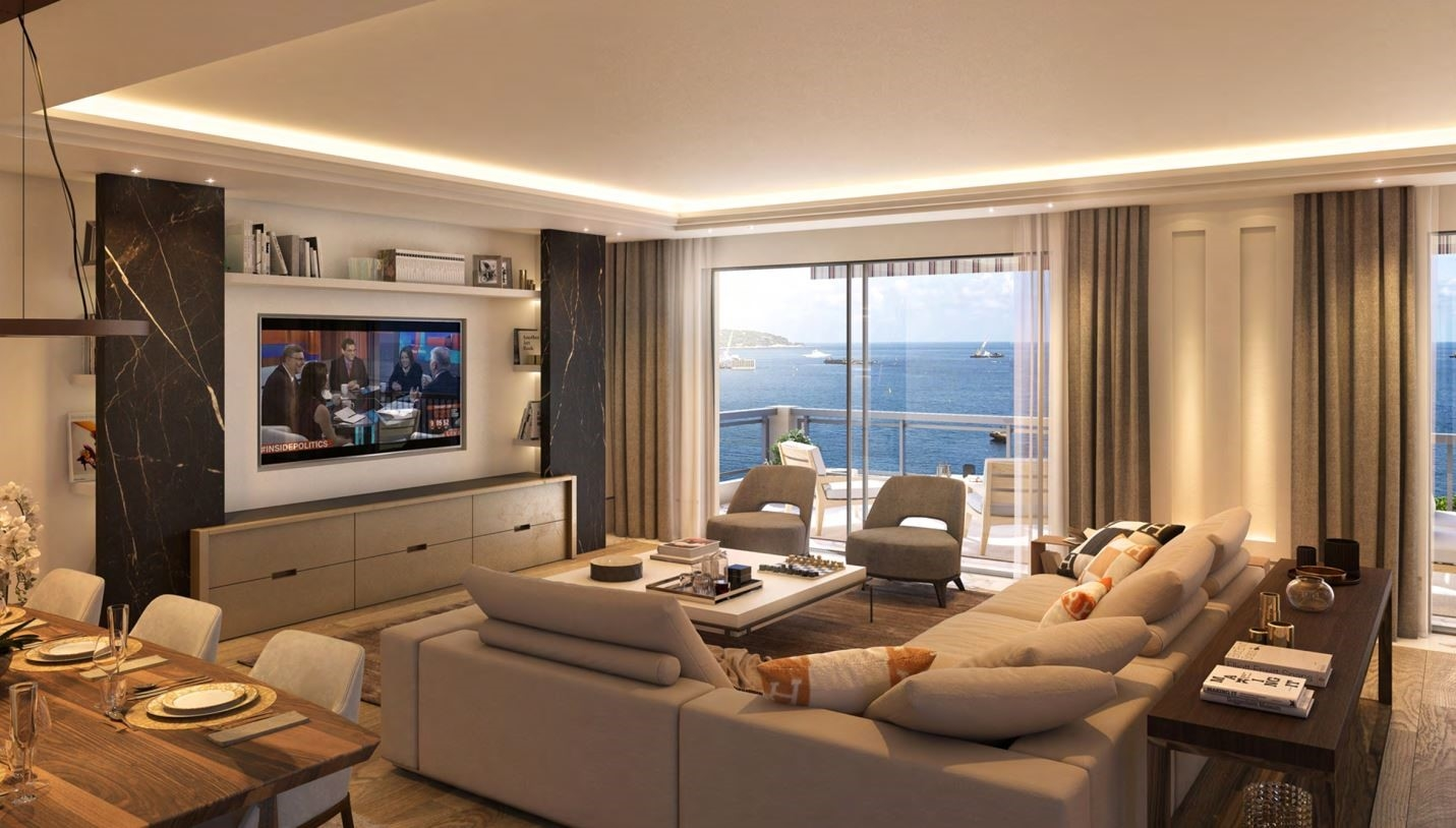 MONACO, SALE 4 ROOMS APARTMENT PANORAMIC SEA VIEW - Offices for sale in Monaco