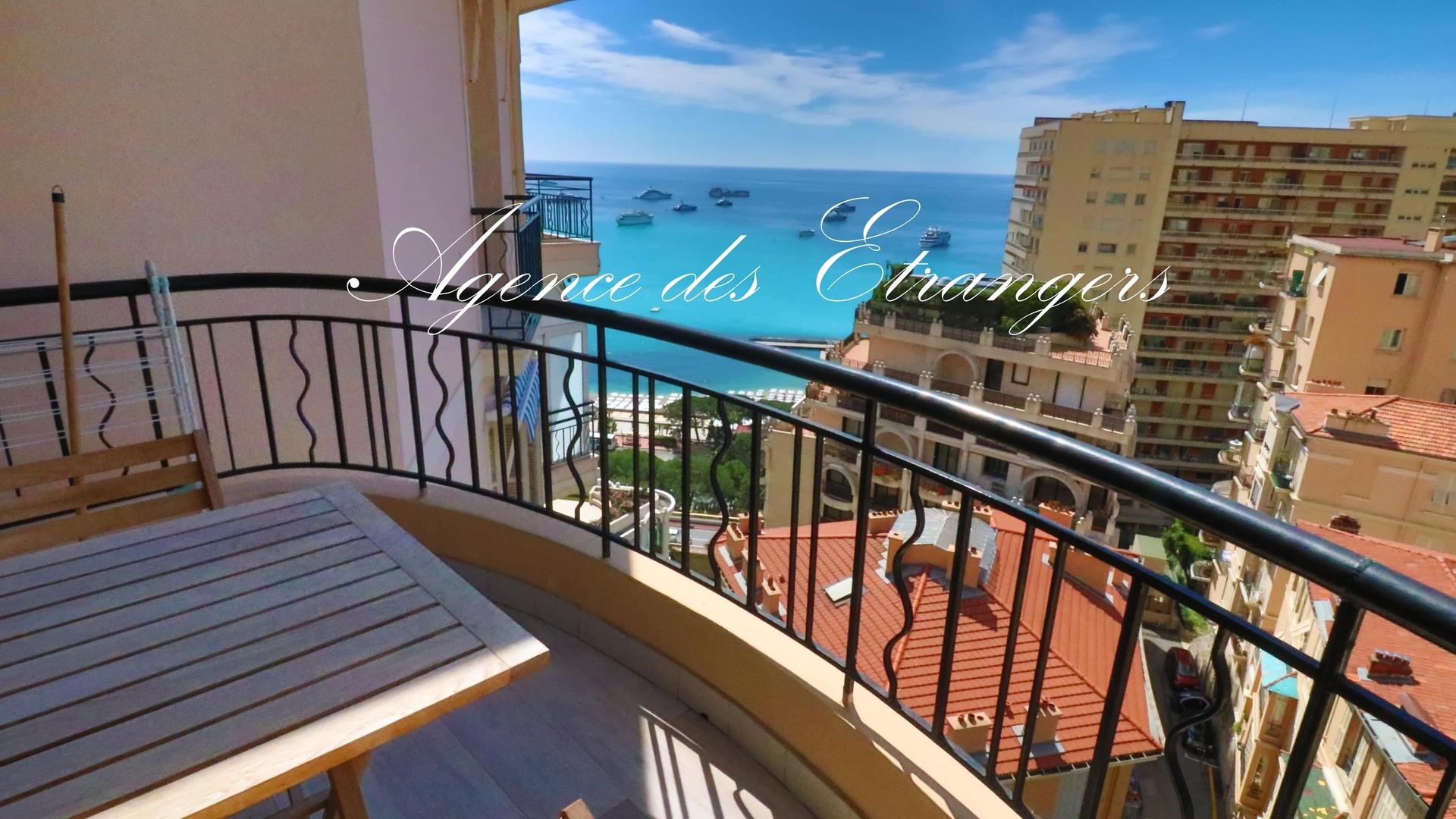 Vente monaco magnifique duplex de 200 m vue mer for Vente de appartement