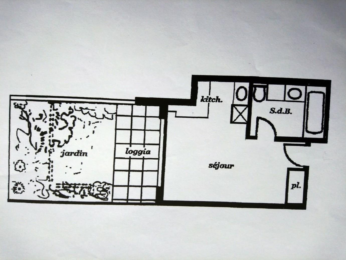 Agréable Studio à usage mixte - Locations de bureaux