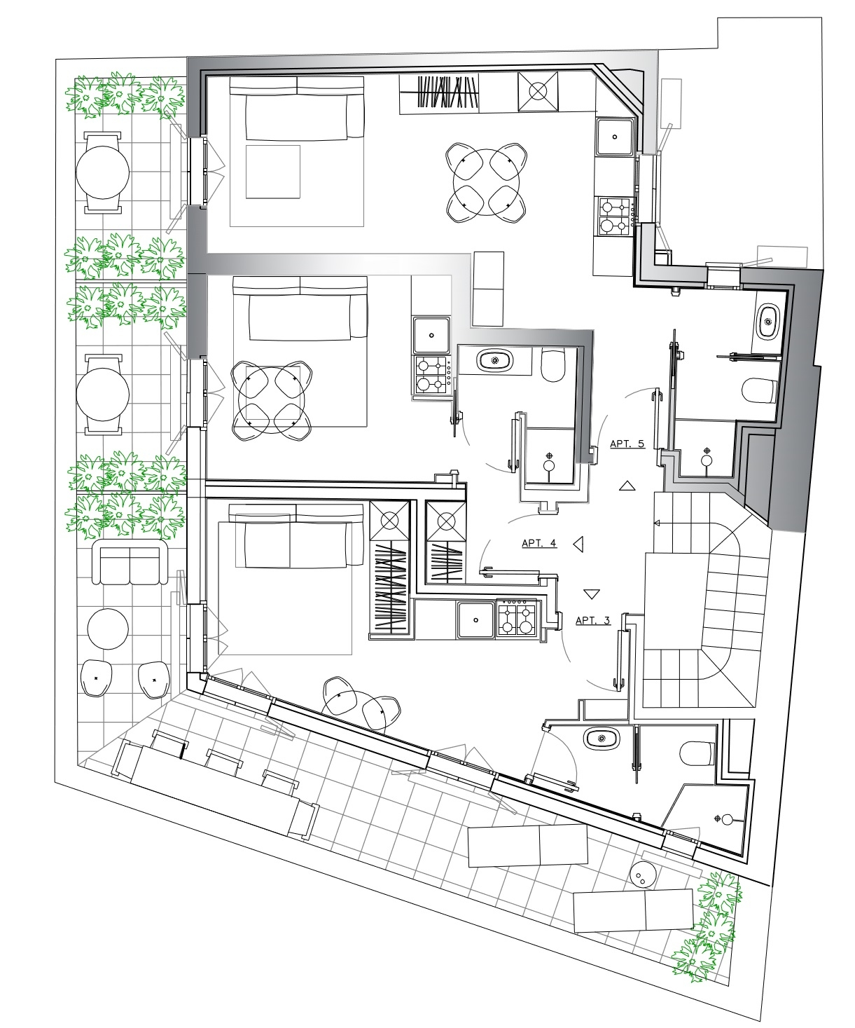 Spacieux studio en penthouse! Livré neuf en 2019 - Bureaux à vendre à Monaco