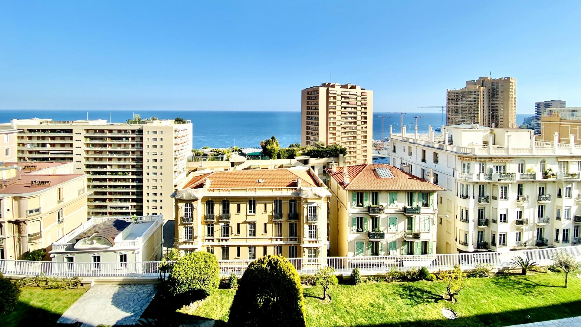 MONACO LA ROUSSE ABEILLES 3 LOCALI VISTA PANORAMICA - Uffici in vendita a MonteCarlo