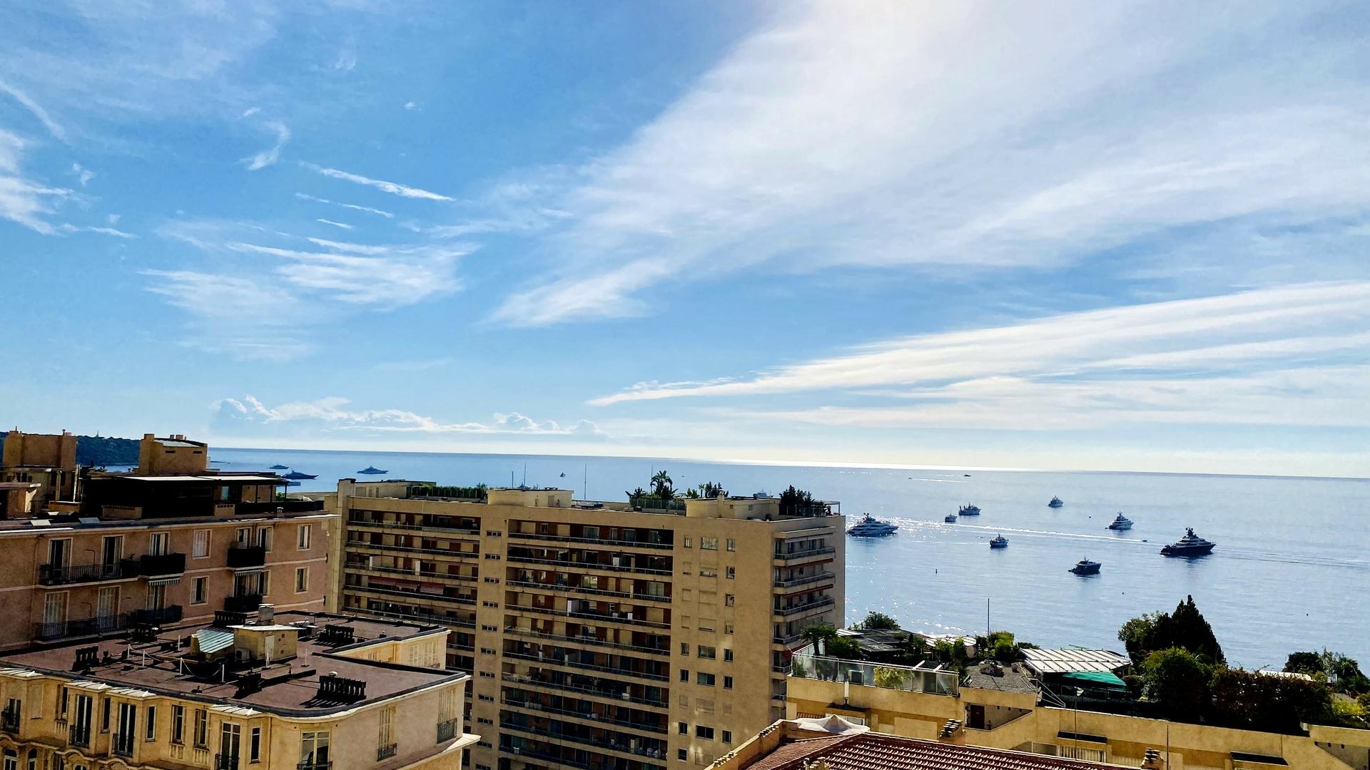 MONACO LA ROUSSE ABEILLES 3 PIECES VUE PANORAMIQUE - Bureaux à vendre à Monaco