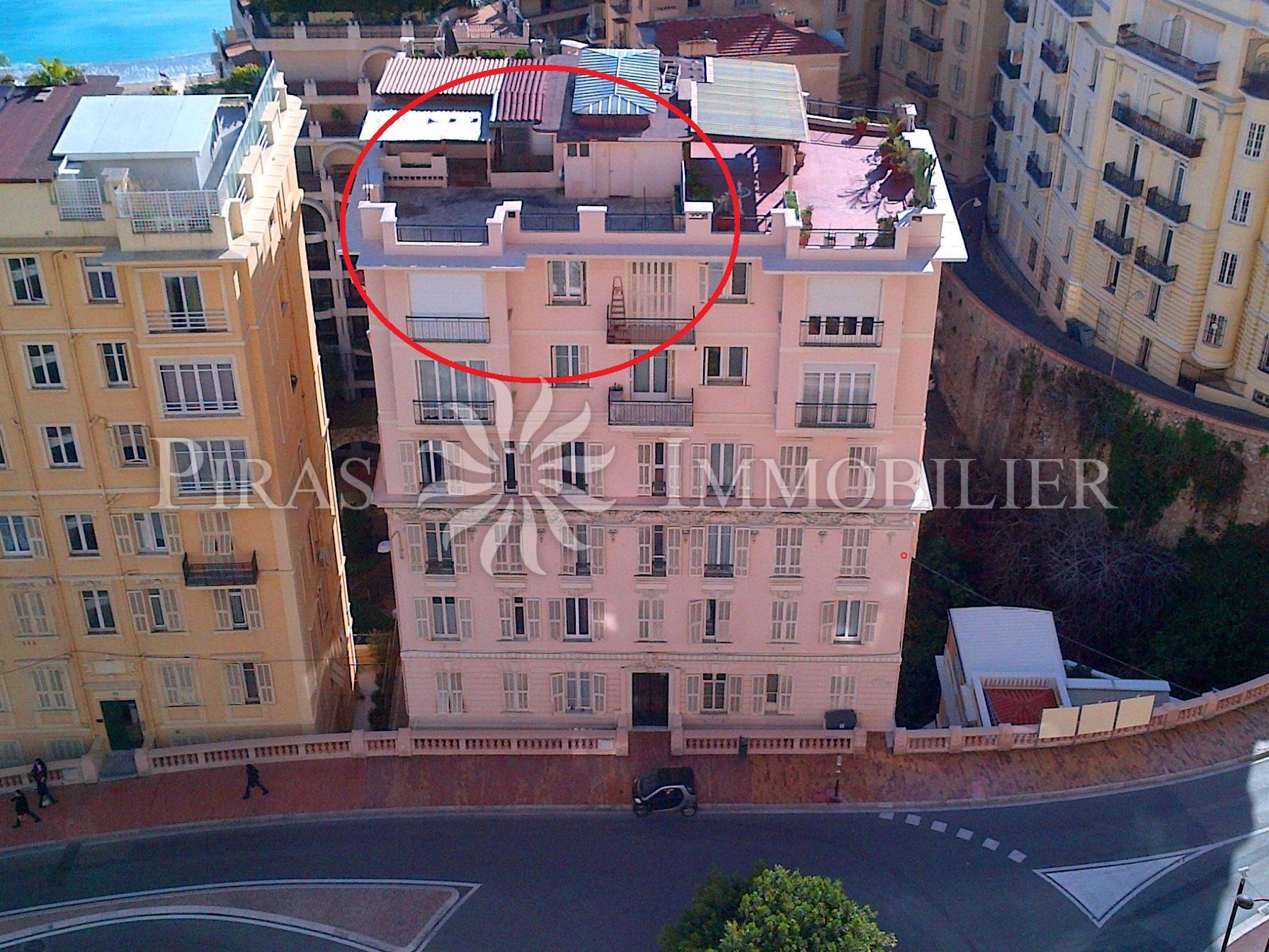vente charmant 3p avec toit terrasse boulevard d 39 italie monaco monte carlo. Black Bedroom Furniture Sets. Home Design Ideas