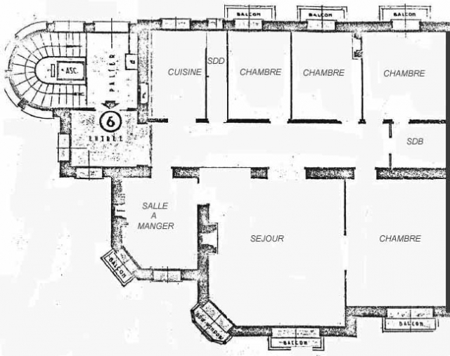floor plans for rental large bourgeois apartment with panoramic view 11723